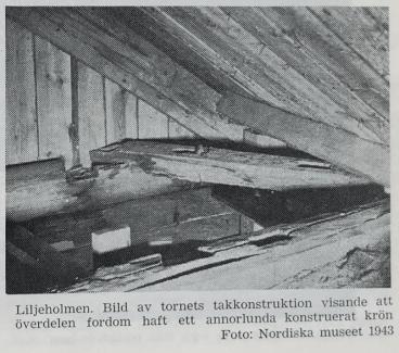 Liljeholmens tornkröns konstruktion 1943