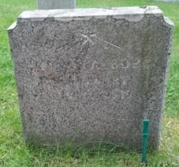 Dinas gravsten på Djurö kyrkogård. Gravstensinventeringen.