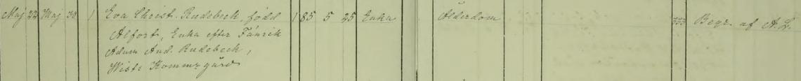 Eva Christinas död 1873. Vist församling.