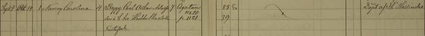 Nanny Carolinas dop 1893. Säby församling.