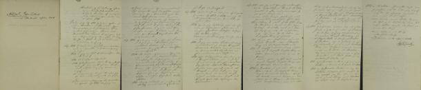 Gabriel Ahlforts meritförteckning 1748.