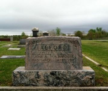 John Alfords grav på Carl Junction Cemetery. Källa: Findagrave.com.