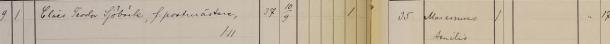 Klas Sjöbäcks död 1925. Kungsbacka församling.