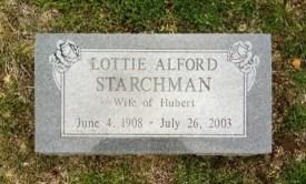 Lotties gravsten på Carl Junction Cemetery. Källa: Findagrave.com.