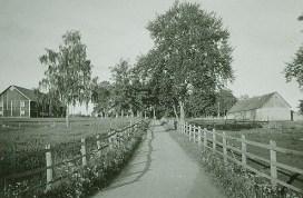 Infarten till Haga under tidigt 1940-tal. Källa: Marbäcks Hembygdsförening.