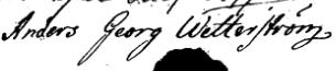 Anders Georg Wetterström 1800 landmåling