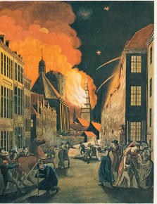 Trinitatis Kyrka 1807. Kopparstick av C.W. Eckersberg.