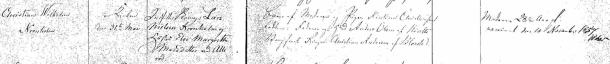 Kristian Wilhelms dop 1856. Blovstrød församling.