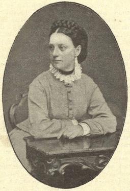 Hanna Theorell vid tiden för hennes bröllop. Från en artikel i Idun 27/5 1899.