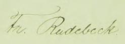 Fredrics namnteckning när första hustrun dött 1865.