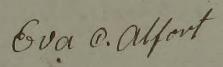 Evas namnteckning 1823.