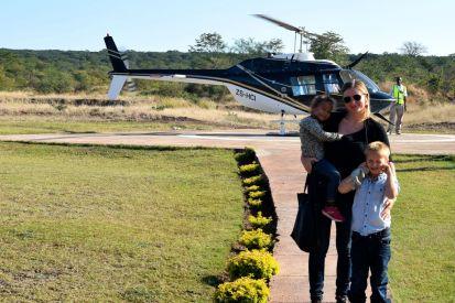 framför helikoptern