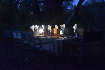Dukat bord i Okavango