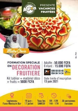 Atelier de décoration fruitière à Douala