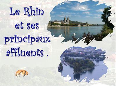 Le Rhin et ses principaux affluents