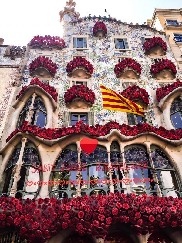 La fête de  Sant Jordi à Barcelone