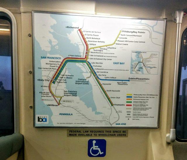 SF BART map