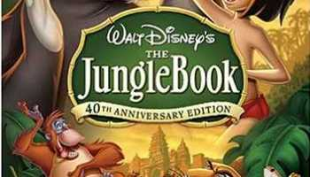 Walt Disney's classic animated movie, 'The Jungle Book', based on the stories by Rudyard Kipling, featuring the adventures of Mowgli, an orphan boy raised by wolves, who has to be taken to the human village to protect the wolf pack from the wrath of Shere Khan, the tiger - a wonderful classic, featuring the voice talents of Phil Harris and Sebastian Cabot, among others.