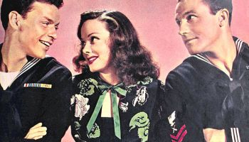 Photo of Frank Sinatra, Kathryn Grayson and Gene Kelly from ''Anchors Aweigh''.