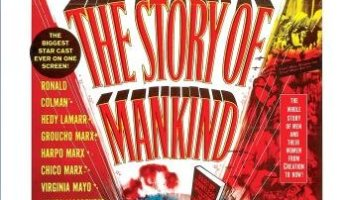 The Story of Mankind (1957) starring Vincent Price, Ronald Colman, Cedric Hardwicke, the Marx Brothers (Groucho, Chico, Harpo), and many more
