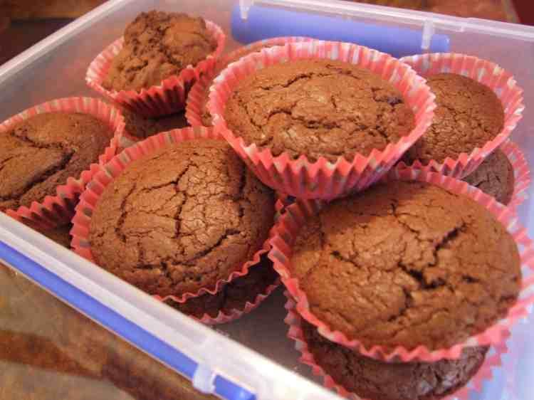 Box of nutella cupcakes