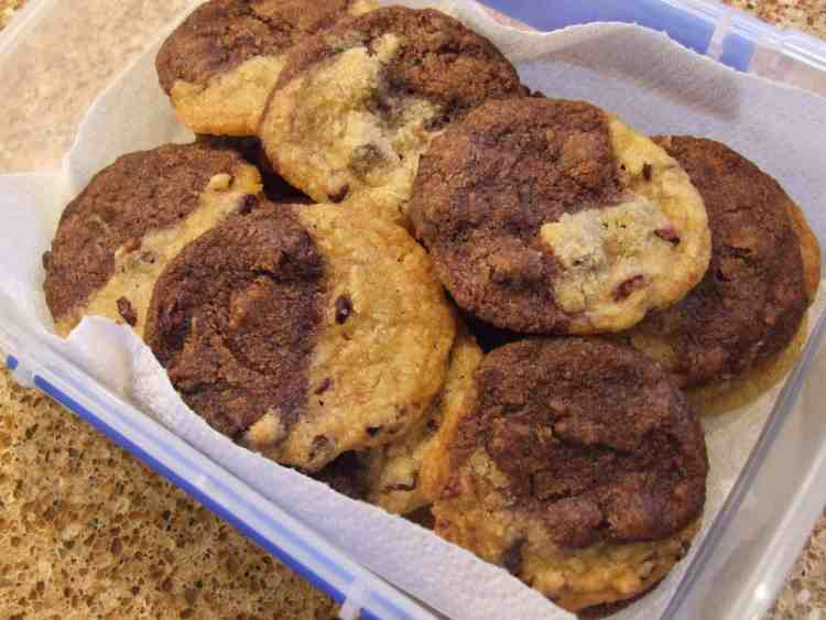 Box of cocoa nib cookies