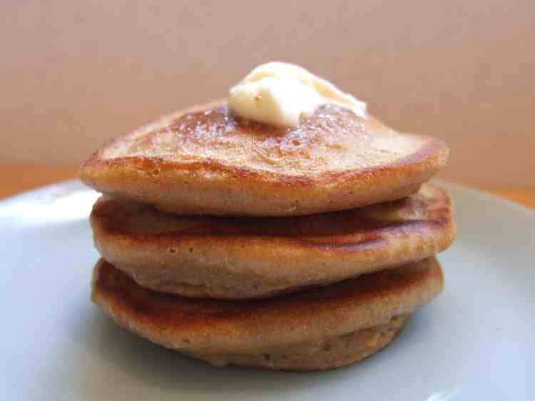 Caramel pancakes with butter