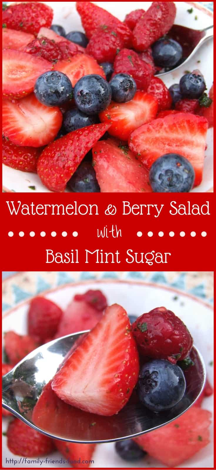 Super refreshing and amazingly delicious. The watermelon & summer berries are sweet and full of flavour while the herby sugar adds zinginess and juice. Yum!