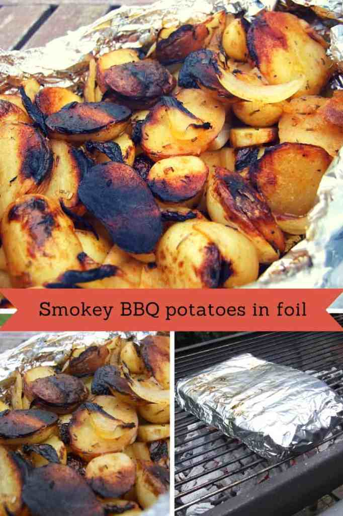 Smokey barbecue potatoes in foil