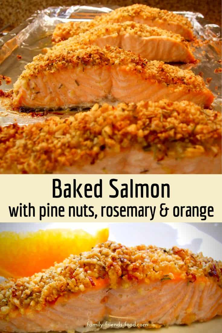 Moist, buttery fish luxuriates under a golden crust of pine nuts, seasoned with rosemary and orange zest. Quick, easy and impressive. Treat yourself!