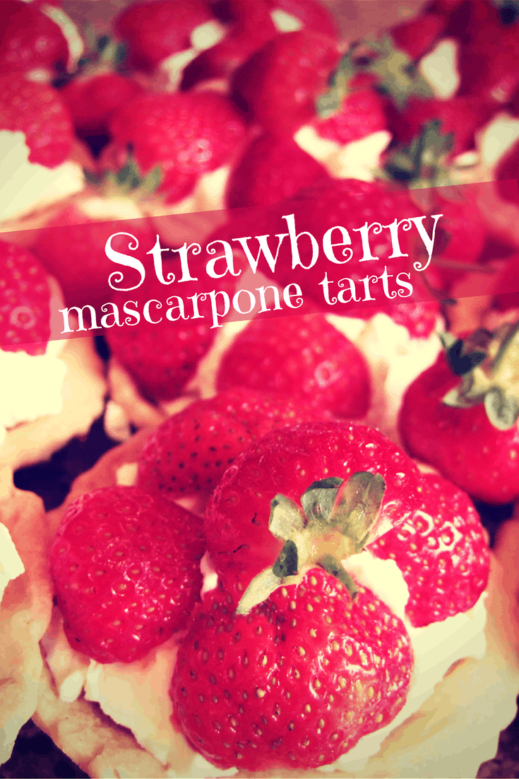 These decadent summery tarts combine golden, sweet shortcrust pastry & vanilla-scented marscapone cream, generously topped with fresh strawberries. Divine!