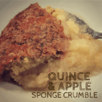 quince and apple sponge crumble