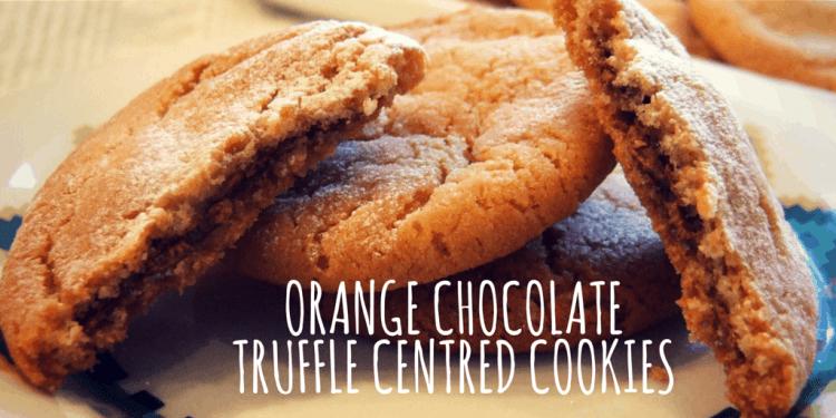orange chocolate truffle-centred cookies