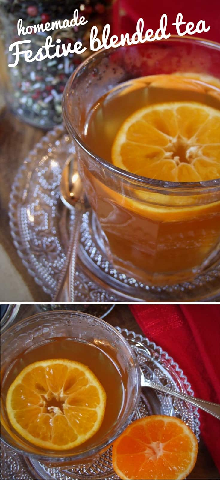 This delicious tea blend, with its spicy, minty, sweet rich flavour, is a great homemade gift. Serve with milk or a slice of clementine for a festive treat.