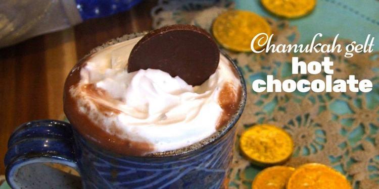 Chanukah gelt hot chocolate