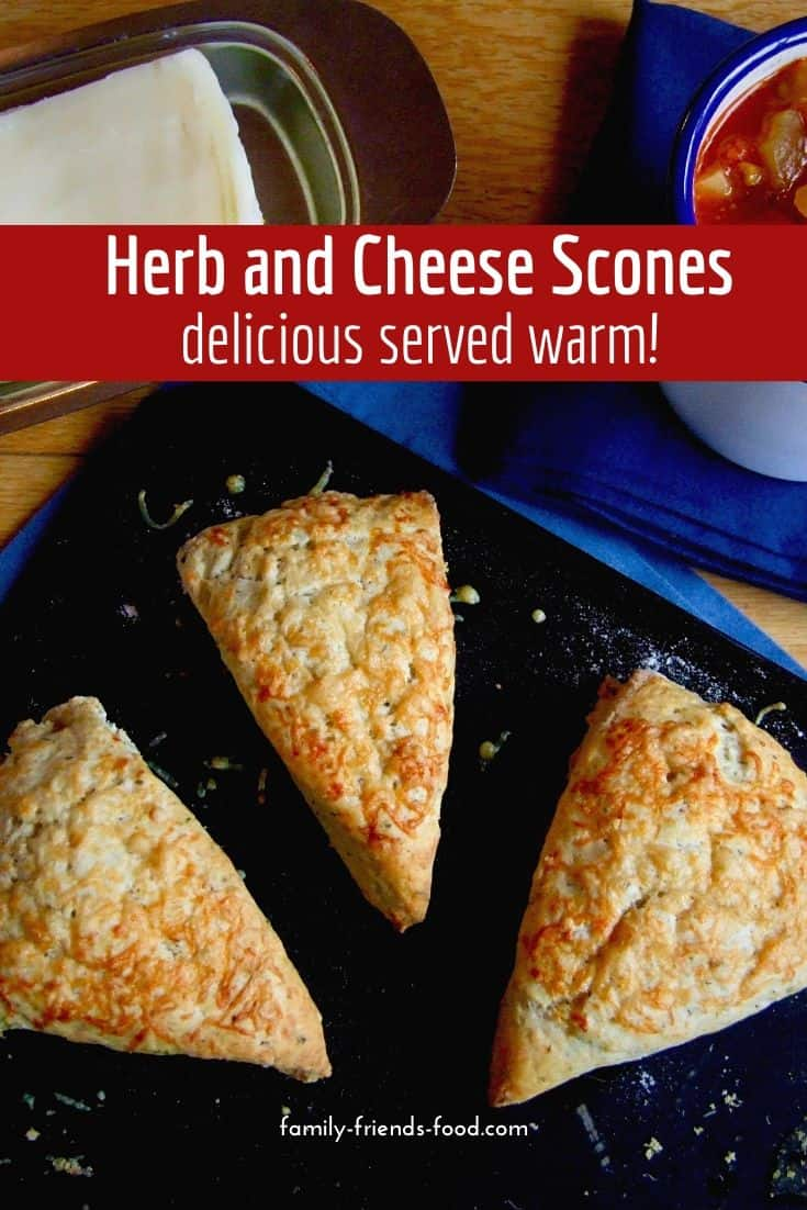 Herb and cheese scones. Quick and easy to make these delicious herb and cheese scones are perfect with lashings of butter. Serve with hot soup for a delightful lunch or supper.