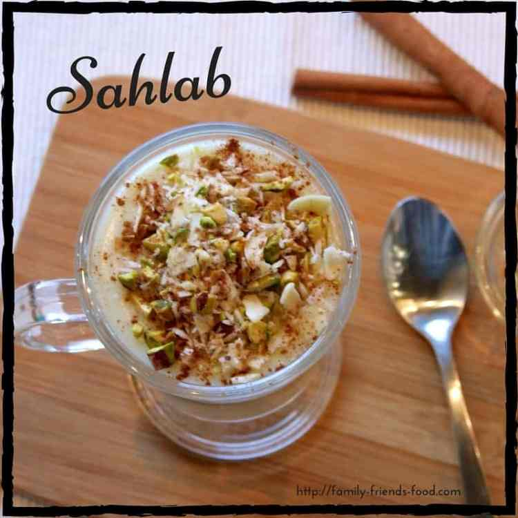 Rich, creamy & delicious, topped with nuts and cinnamon, sahlab is a winter treat!