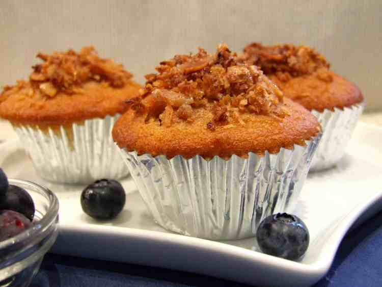 These fruity muffins are moist, crumbly, & bursting with juicy blueberries! Perfect for Pesach (Passover), they're free from gluten, kitniot, & gebrokhts, they're delicious at any time.