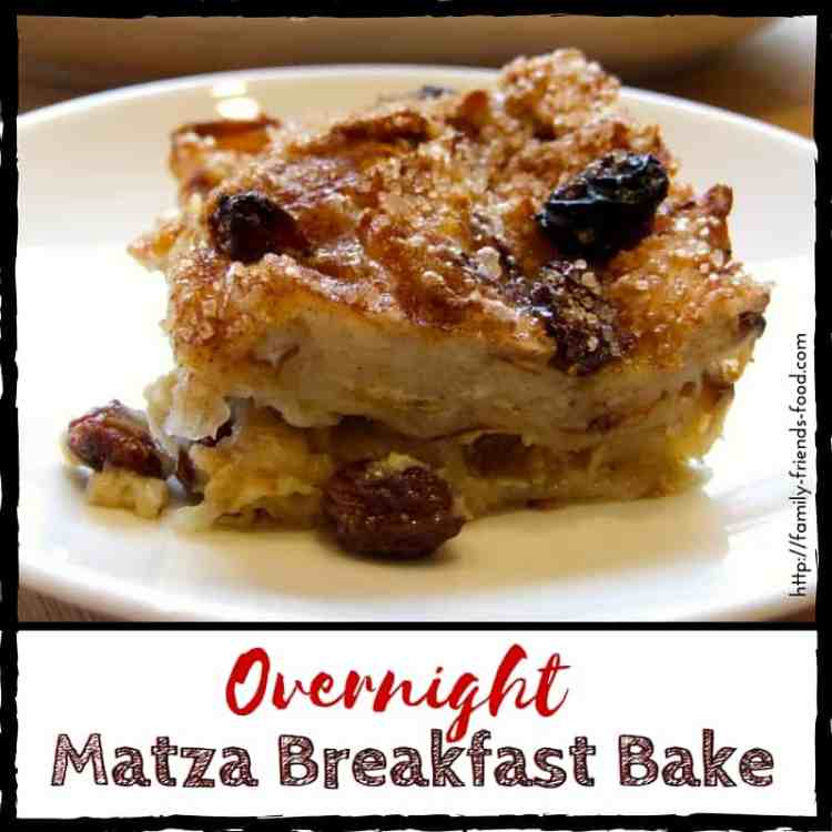 Overnight matza breakfast bake