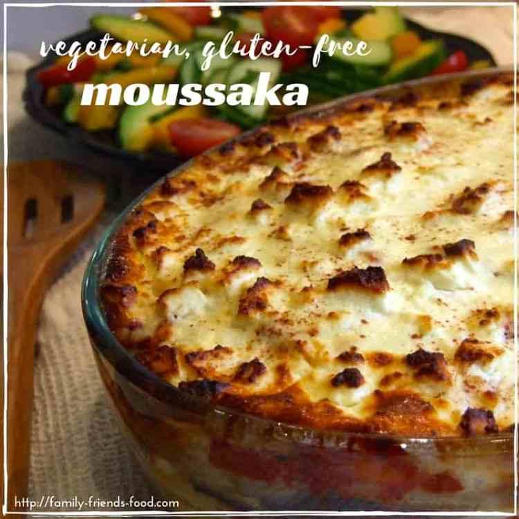 vegetarian, gluten-free moussaka