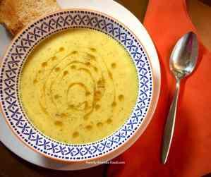 vegan courgette & potato soup.