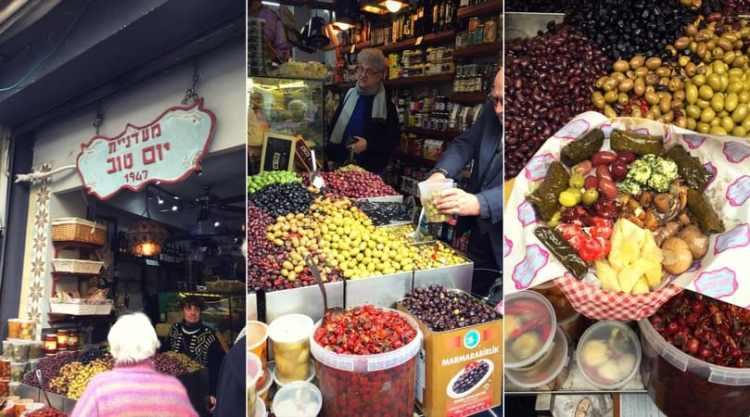 Yom Tov delicatessen in Tel Aviv's Levinsky market