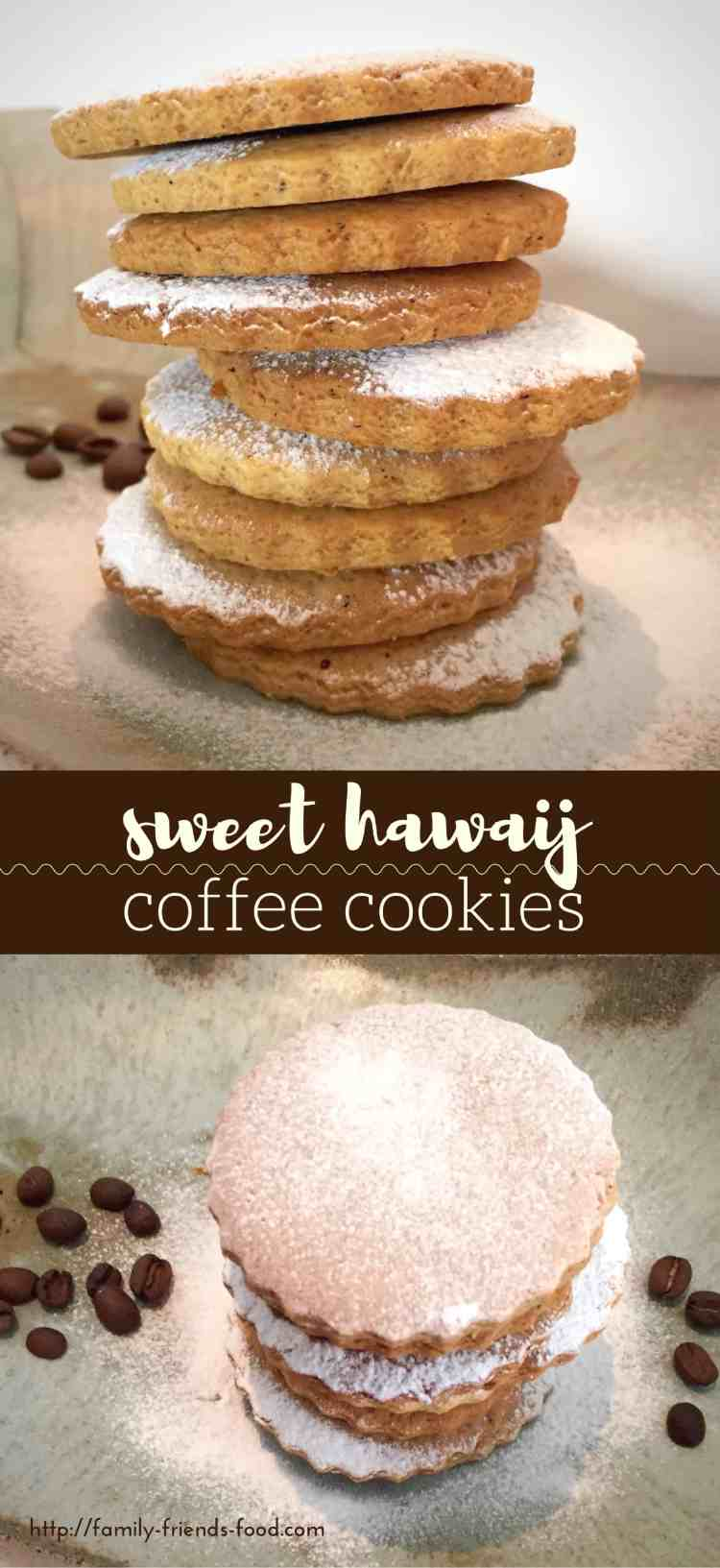 Crisp delicious cookies flavoured with sweet hawaij spices and real coffee. A taste of the Middle East and perfect dipped in your favourite brew.