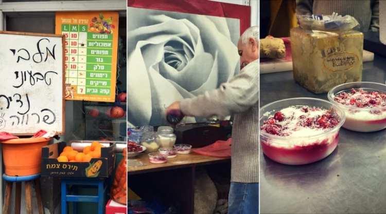 vegan malabi at Levinsky market, Tel Aviv
