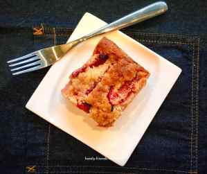 plum almond crumble cake.