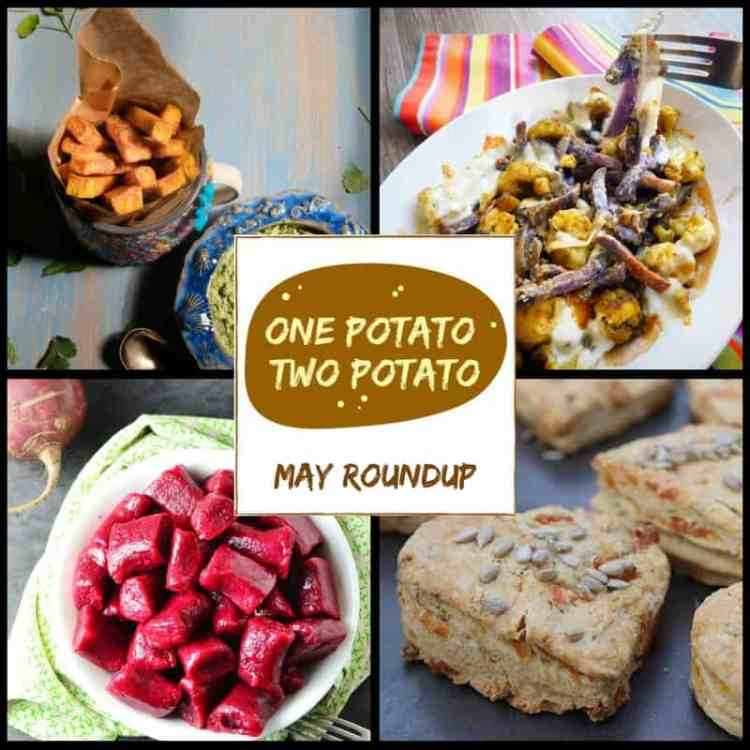 Recipe roundup of potato and sweet potato recipes entered into May's One Potato Two Potato recipe linky. Plus how to join in with the linky in June!