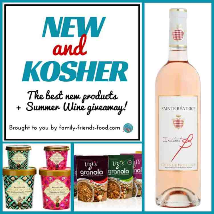Take a look at some great new kosher products hitting the shelves in time for summer, plus enter to WIN 2 bottles of luscious kosher rosé wine! L'chaim!