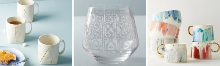 drink ware from Anthropologie