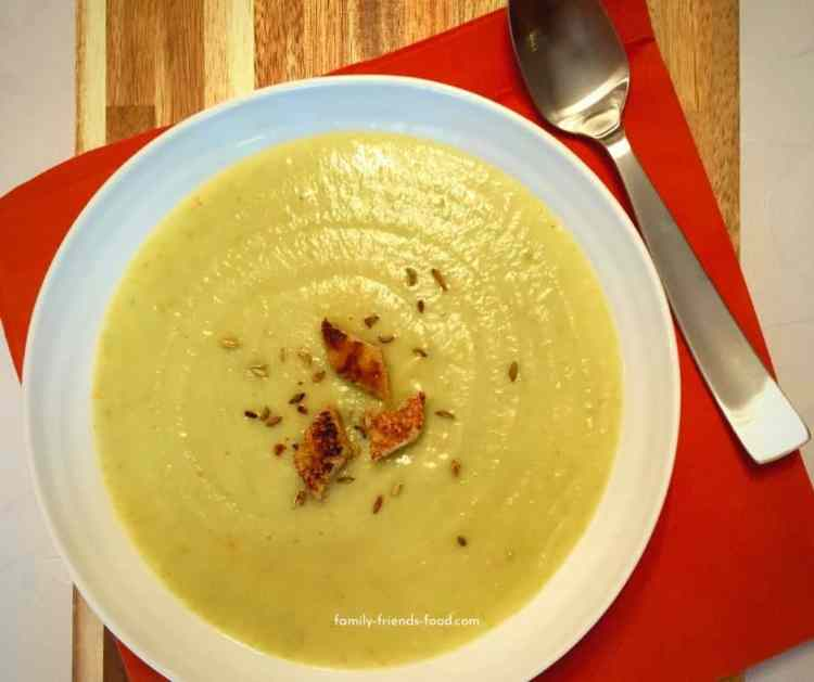 parsnip and pea soup.