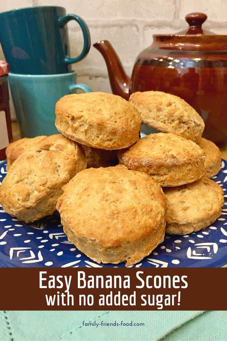 An ingenious way to use spotty bananas, these gorgeous banana scones have golden crusts, a flaky, tender interior, and a delicious not-too-sweet flavour. Healthy enough for breakfast or a good-for-you snack at any time of day! Serve with butter or spreads for a fruity treat.